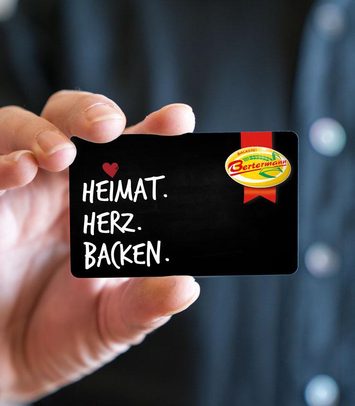 Bäckerei Bertermann Minden · Heimat. Herz. Backen · Treue-Card